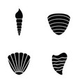 shell icon set vector image
