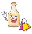 shopping apple cider isolated with mascot vector image vector image