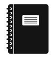 spiral notepad icon simple vector image vector image