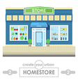 store building flat design vector image