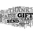 thank you card etiquette text background word vector image vector image