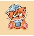 Tiger cub drowsy vector image vector image