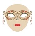 venetian mask isolated icon vector image vector image
