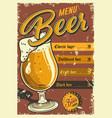 vintage pub poster design vector image vector image