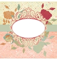 Vintage romantic background with roses EPS 8 vector image vector image