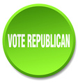 vote republican green round flat isolated push vector image vector image