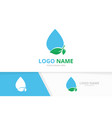 water and leaves logo combination unique vector image