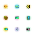 Web communication icons set pop-art style vector image vector image