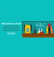 welcome to school banner horizontal concept vector image