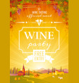 wine festival poster for wine party invitation vector image vector image