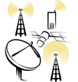 with a set of radio devices vector image vector image