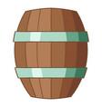 Wooden barrel icon cartoon style vector image