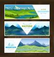 alpine meadows banners set vector image