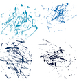 blue splatter paint abstract on white background vector image