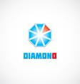 diamond icon logo vector image