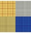 Set of seamless sacking texture vector image