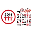 2016 Guys Dance Flat Icon with Bonus vector image