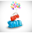 3D BIG SALE with colorful bubbles vector image vector image