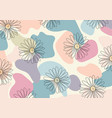 abstract pattern hand drawn line flower vector image