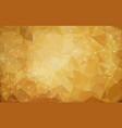 abstract polygonal dark brown background vector image vector image