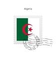 Algeria Flag Postage Stamp vector image vector image