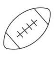 american football ball thin line icon game sport vector image vector image