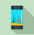 aquarium tube icon flat style vector image