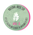 arbor day icon for promotio vector image vector image
