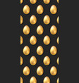 background with golden eggs pattern for easter vector image vector image