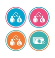 Bank loans icons Cash money symbols vector image vector image