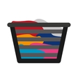 Basket clothes isolated icon