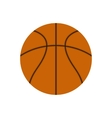 Basketball ball flat icon vector image vector image