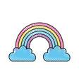 beautiful fantasy cloud with rainbows vector image vector image