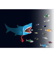 Business World Big fish eat small fish vector image