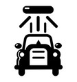 car wash icon simple black style vector image