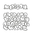 cartoon alphabet in style comics graffiti vector image vector image