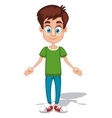 Cartoon young man character with open arms in the vector image vector image