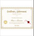 certificate or diploma retro vintage template 05 vector image vector image