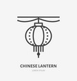 chinese paper lantern flat line icon thin vector image