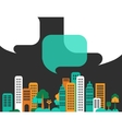 City talks buildings vector | Price: 1 Credit (USD $1)