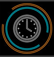 clock icon time vector image vector image