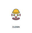 clown icon creative 2 colors design fromclown vector image vector image