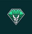 cobra snake e sport logo icon vector image vector image