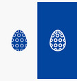 decoration easter easter egg egg line and glyph vector image vector image