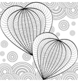 Decorative Love Heart Coloring book for adult and vector image vector image