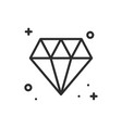diamond gem jewel line icon precious stone sign vector image