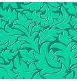 Elegant floral curl pattern vector image vector image