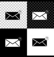 envelope with question mark icon isolated on black vector image