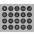 Fabric feature line icons set vector image vector image