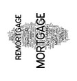 five reasons to consider a remortgage text vector image vector image